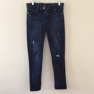 Seven 7 For All Mankind Skinny ButtonFly Jean Sz26